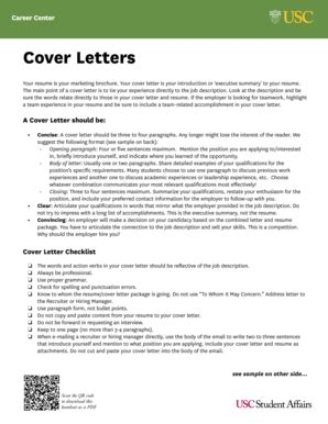 Usc Cover Letter by Fillable Careers Usc Cover Letters Usc Career Center Of Southern
