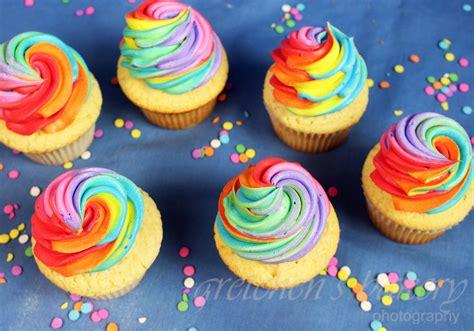 Rainbow Vanilla Cupcakes   Gretchen's Bakery