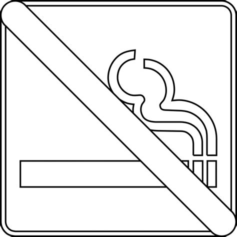 no smoking coloring sign clipart best