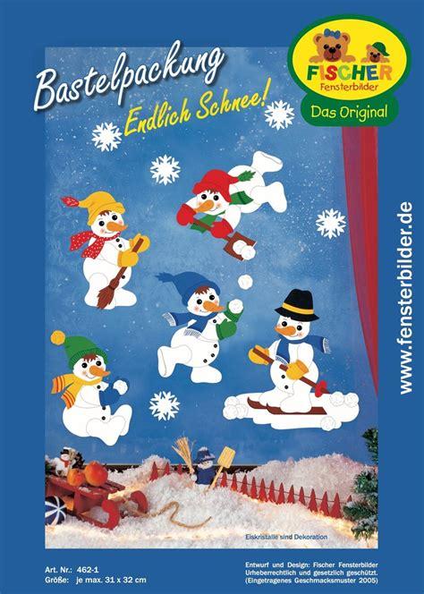 Fensterdeko Weihnachten Schnee by Fensterbild Bastelvorlage Endlich Schnee Fischer