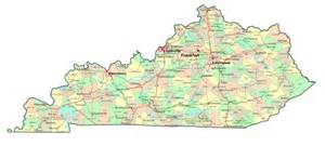 Ky State Map by Kentucky State Map With Cities Blank Outline Map Of Kentucky