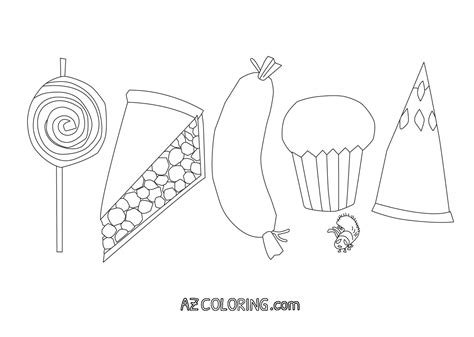 very hungry caterpillar coloring pages az coloring pages