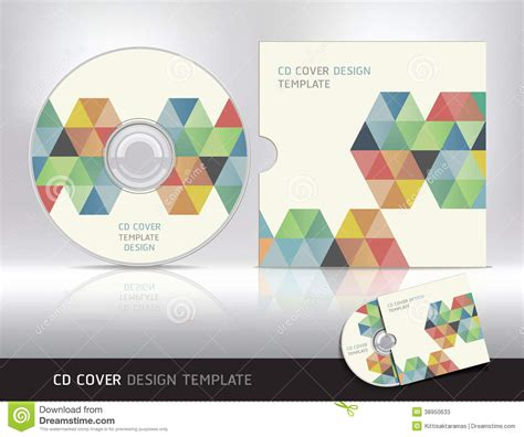cd cover design template abstract cover design vector cartoondealer