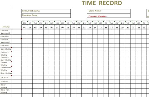 consultant time tracking template excel time tracking sheet template