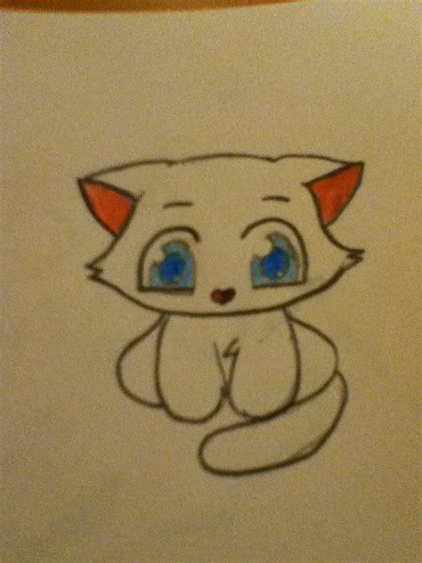 cute cat drawings easy cute kitten drawings cute kitten drawing cute