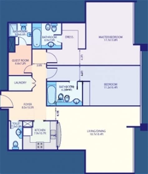 Bed Floor Plan Jlt Lake Point Tower Floor Plan