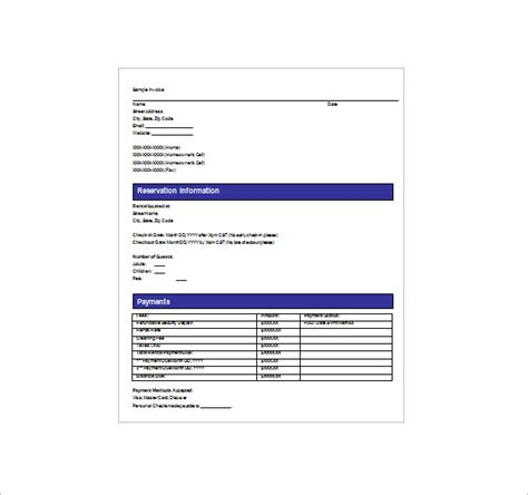 vacation home rental receipt template 27 rental receipt templates doc pdf free premium