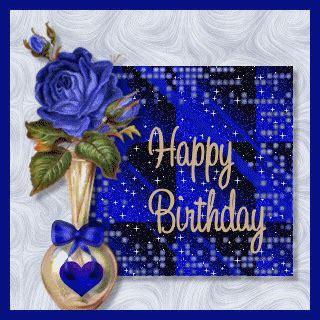 Glitter Happy Birthday Wishes Happy Birthday Blue Glitter Happy Birthday