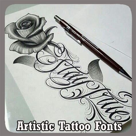 tattoo fonts app download artistic fonts apk free lifestyle app