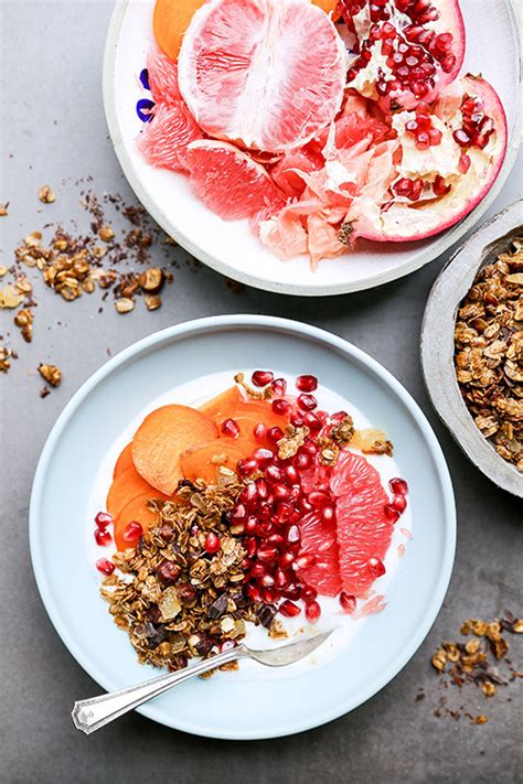 fruit yogurt bowl winter fruit and yogurt breakfast bowls with gingerbread