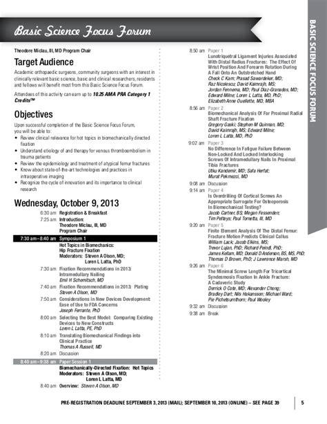 Maryland Mba Application Deadline by Orthopaedic Association Ota 2013 Annual Meeting