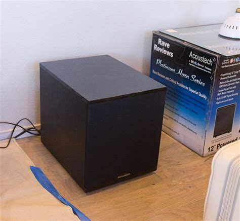 diy wood side table subwoofer enclosure sue