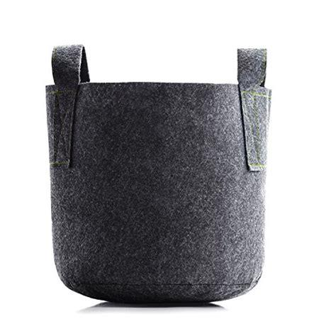 Felt Planter Bags by 5 Gallon Grow Bag 5 Pack Felt Plant Pot Fabric Planter