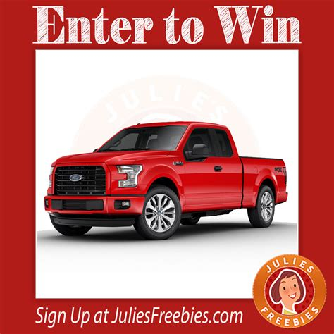Pbr Ford Truck Giveaway 2017 - win a 2017 ford f 150 julie s freebies