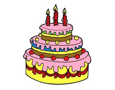 velas cumpleaos figuras para tartas troqueladoras tartas de chuches dibujo de tarta de cumplea 241 os pintado por en dibujos net
