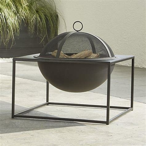small firepit geometric square pit