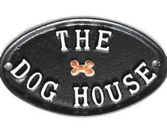 dog house cast funny garden sign etsy