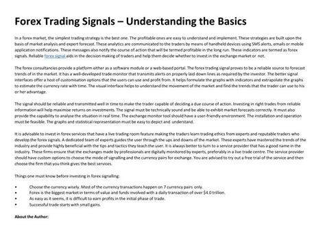 forex trading tutorial ppt ppt forex trading signals understanding the basics