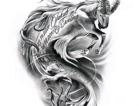 memorial capricorn tattoo design