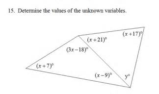 Find The Interior Angle Sum For Each Polygon Triangle Interior Angles Worksheet Pdf And Answer Key