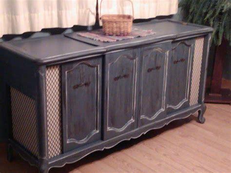 painted repurposed vintage stereo cabinet