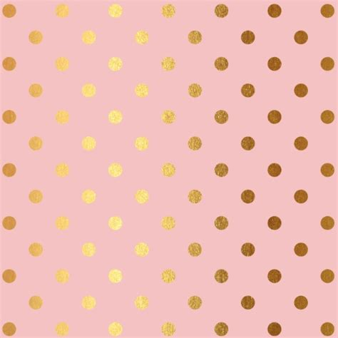 rose gold pattern wallpaper golden polka dots on rose gold backround art print