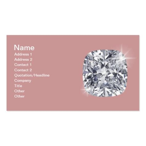 jewelry card double sided standard business cards pack of
