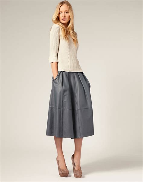 midi leather skirt whistles telegraph