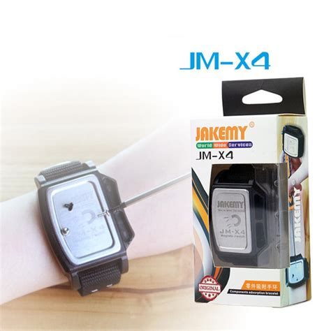 Jakemy Jm X4 Permanent Magnetic Wristband Bracelet Adsorption Tools For Small Parts jakemy jm x4 components adsorption bracelet powerful magnetic wrist band hold small metal nuts