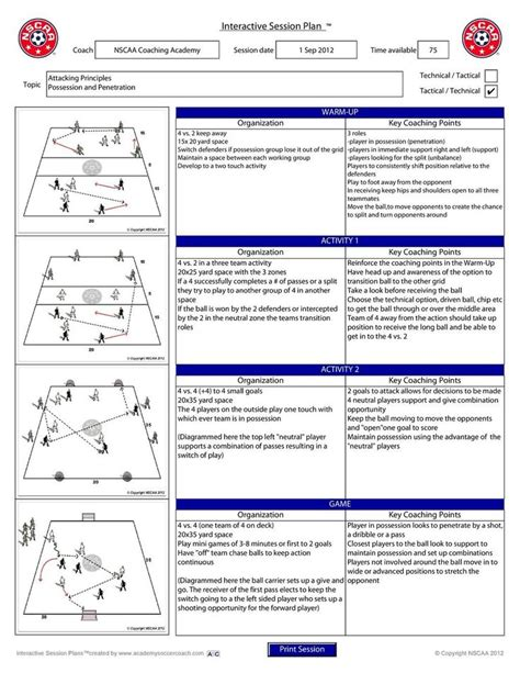 youth football practice plans templates 17 best images about soccer on soccer