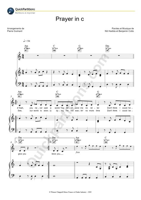 tutorial piano prayer in c prayer in c piano sheet music lilly wood and the prick
