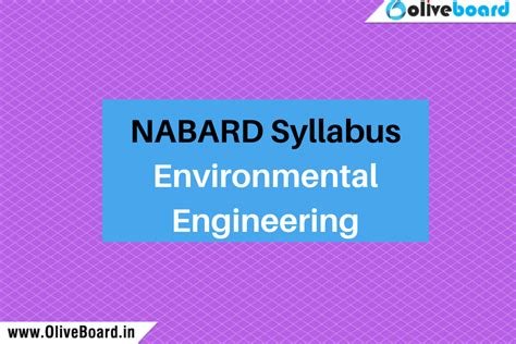 Energy Environment Engineering Mba by Nabard Syllabus Environmental Engineering Nabard Grade