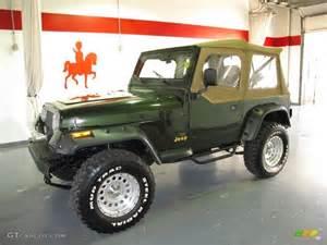 1995 Jeep Wrangler Grande 1995 Moss Green Pearl Jeep Wrangler Grande 4x4