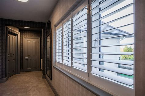 Window Blinds Cordless Top Plantation Shutters Uckfield Wood Blinds Intended For