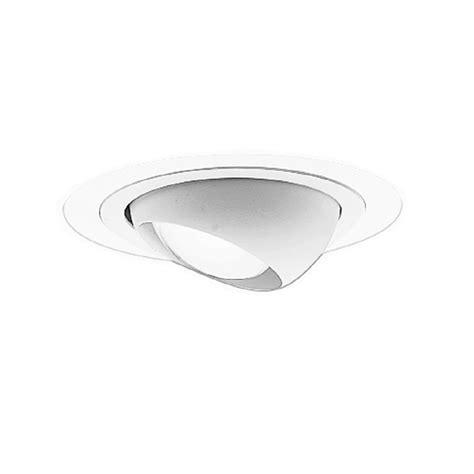 led recessed eyeball lights shop cooper lighting white eyeball recessed light trim