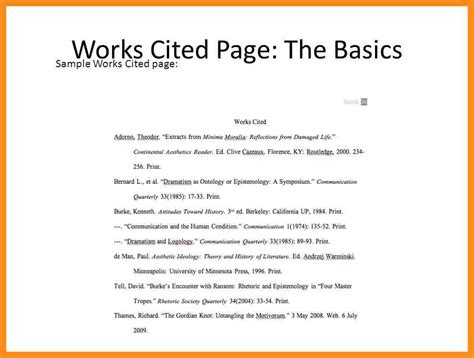 Cited Essay Exle by Mla Essay Format Works Cited