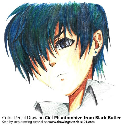ciel color ciel phantomhive from black butler colored pencils