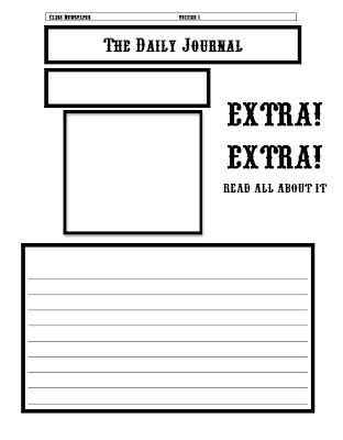 Classroom Freebies Newspaper Template Newspaper Template To Print