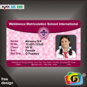 High School Student Id Card Template by Plastic Sle Employee Id Cards Student Id Card Sles