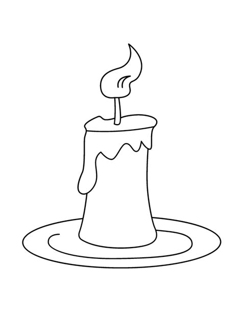 candle coloring sheet coloring home