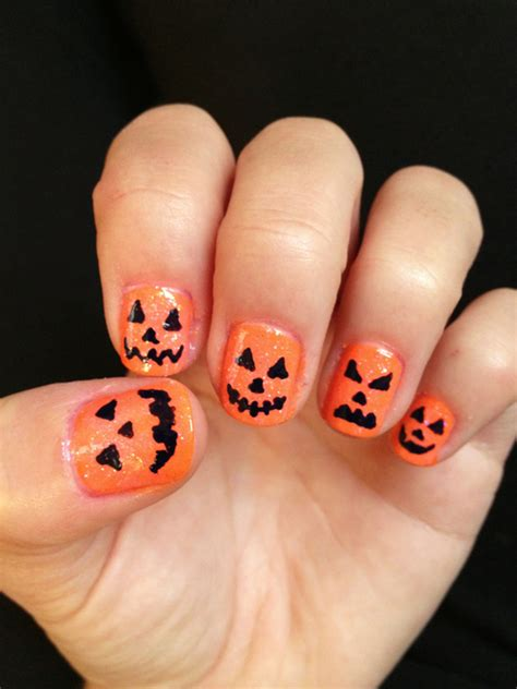 pumpkin nail design nail and make up