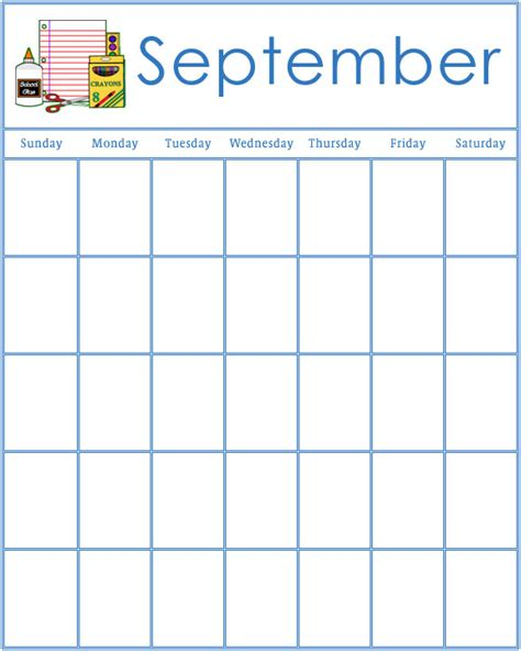 printable monthly calendar for kindergarten 9 best images of kindergarten printable calendar month by
