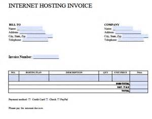 exle invoice template word free hosting invoice template excel pdf