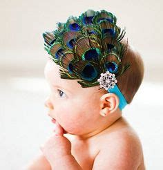1 pcs baby headband peacock feather rhinestone princess peacock feather bling hair bow baby boutique peacock