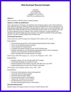 Web Developer Career Objective Resume Cover Letter Salesforce Resume Skills And