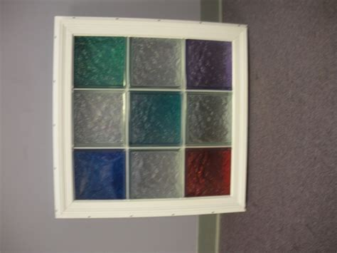 Vinyl framed glass block window for bathrooms, kitchens