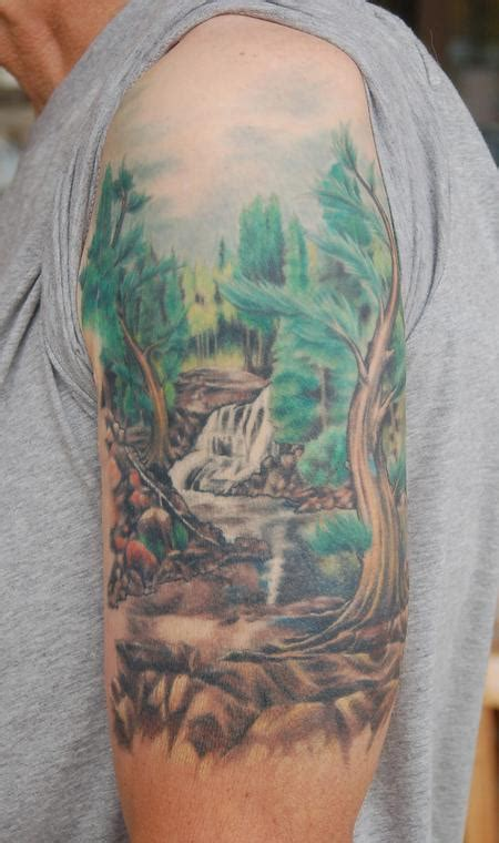 nature quarter sleeve tattoo nature half sleeve by ben rettke tattoos