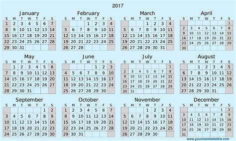 printable calendar 2017 2017 calendar templates high quality download
