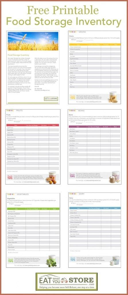 free printable grocery inventory list printable food storage inventory how much food storage do