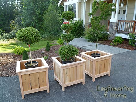 How To Build Large Planter Boxes by Pretty Front Porch Diy Large Cedar Planter Boxes
